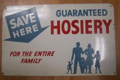 Vintage hoisery sign