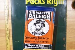 Vintage Walter Raleigh sign