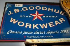 Vintage Goodhue Workwear sign