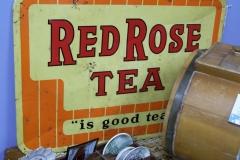 Vintage Red Rose Tea sign