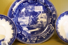 Antique transferware first nations plate