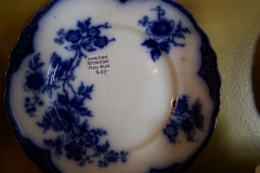 Antique flow blue plate