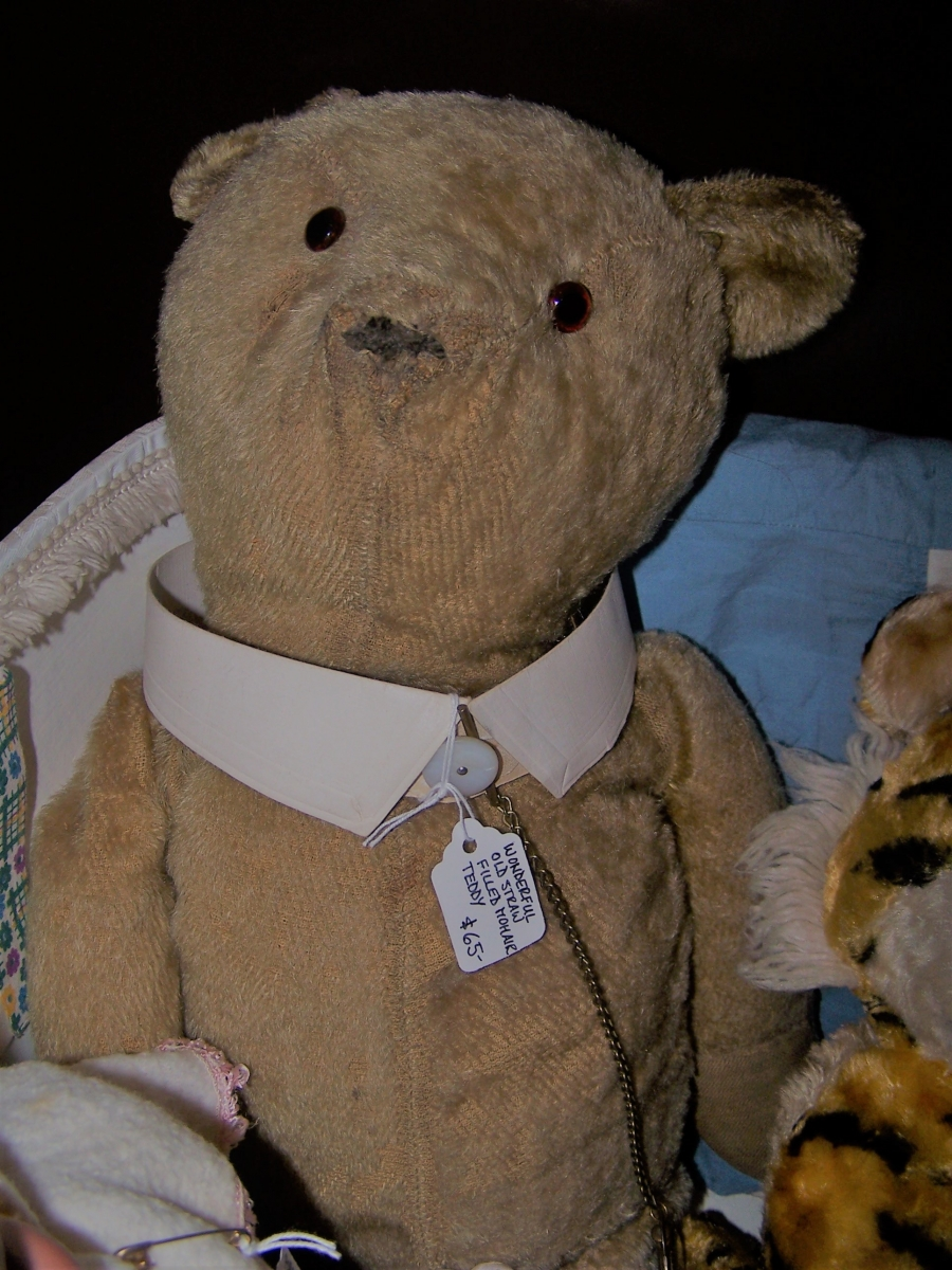 Antique Teddy with pocket watch
