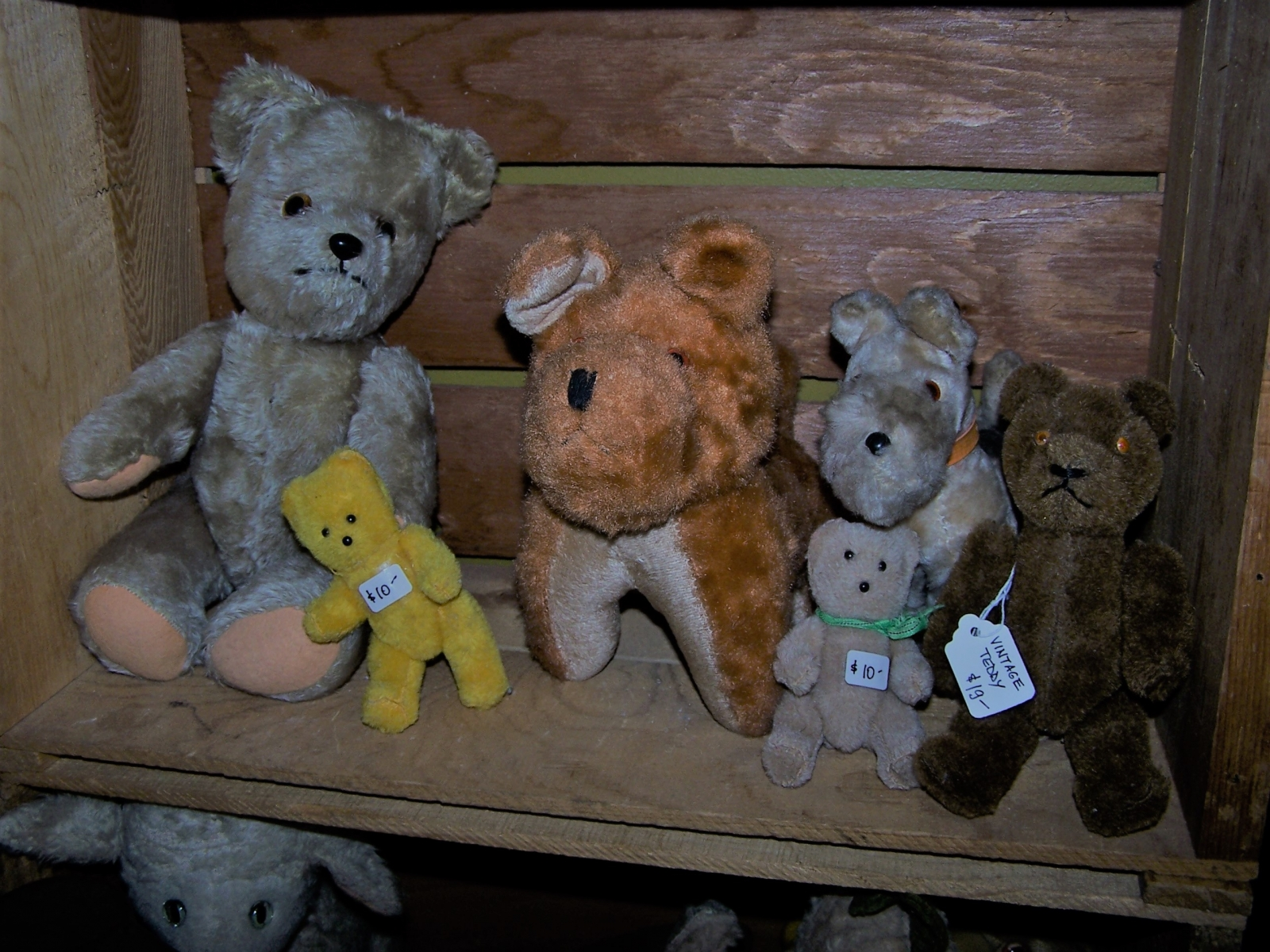 Antique Stuffed toys in box