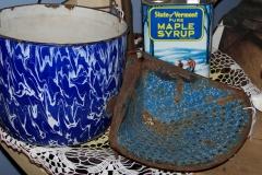 Primitive blue enamelware