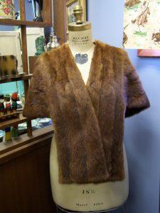 Antique Mannequin in Fur Stole